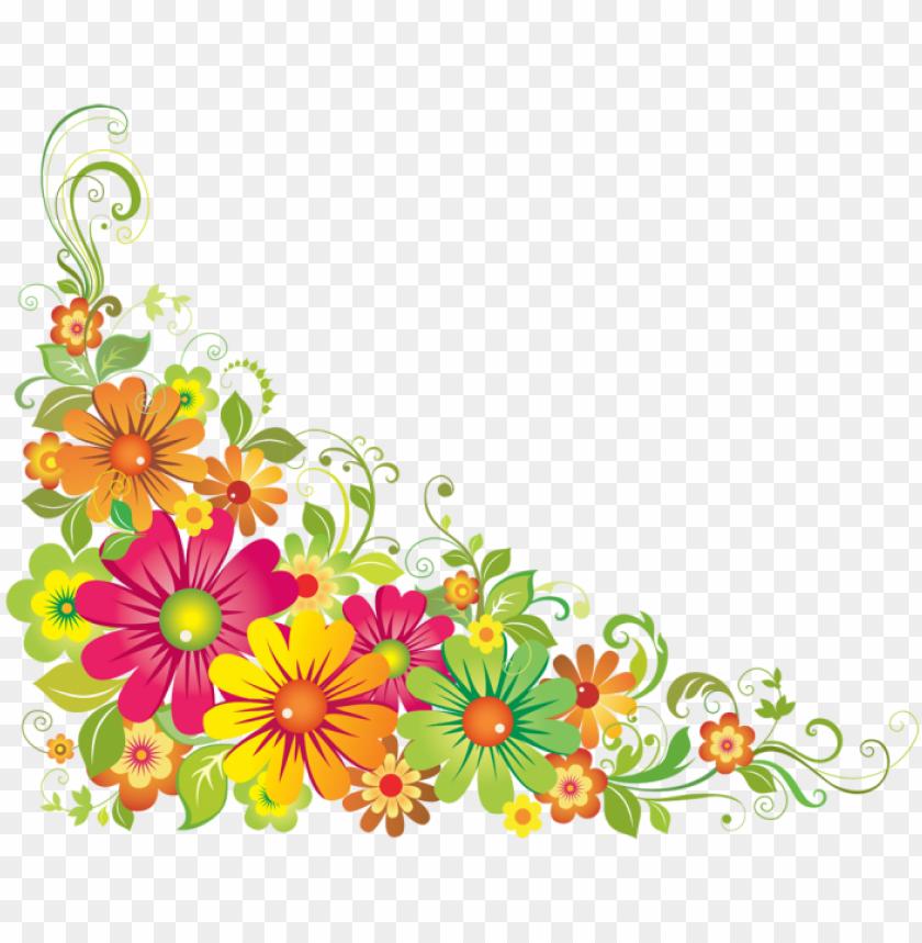 free PNG floral corner designs png - corner flower design PNG image with transparent background PNG images transparent