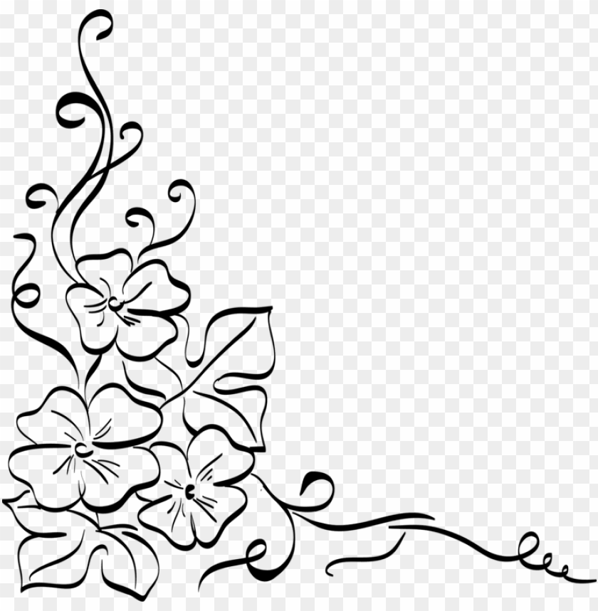 free PNG floral design decorative arts drawing flower ornament - decorative drawing of flower PNG image with transparent background PNG images transparent