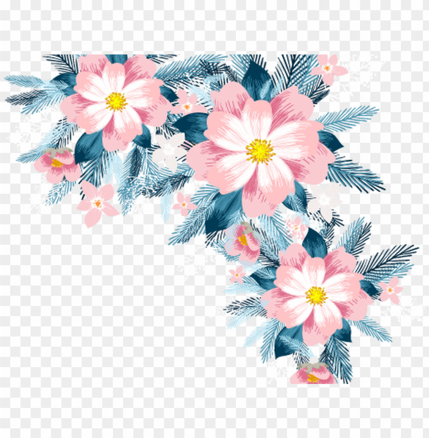 Floral Design Pineapple Cake Flower Vector Flowers Vector