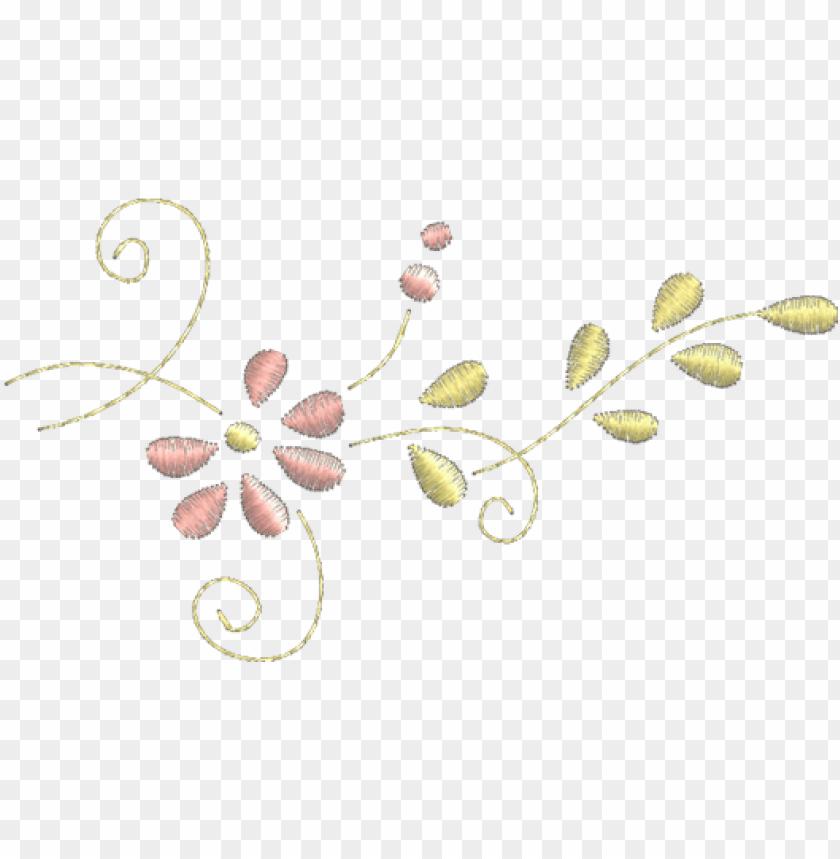 free PNG floral - floral bordado PNG image with transparent background PNG images transparent