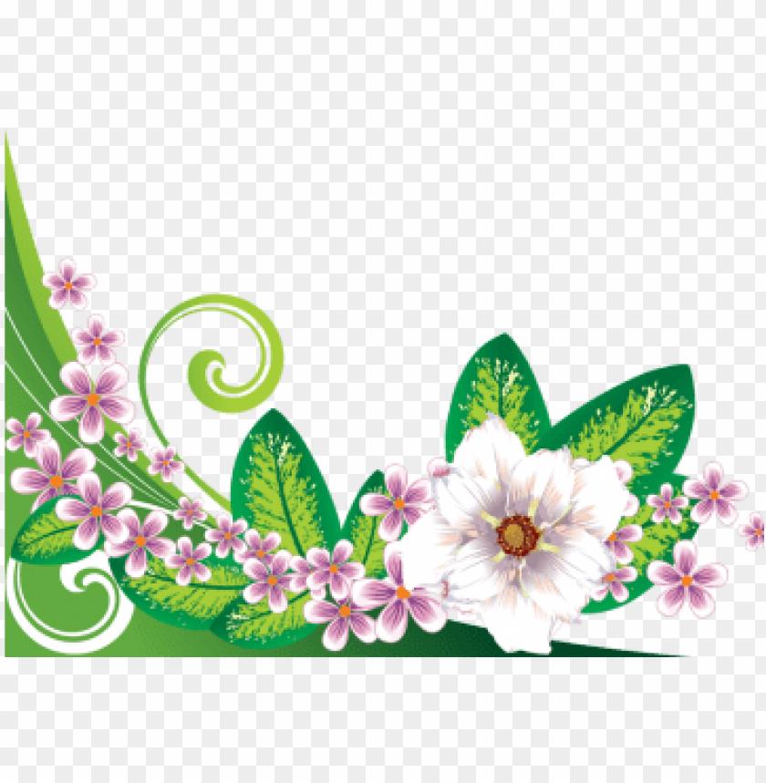 free PNG floral flowers border, floral, flowers, border png - abstract art 45 wristlets bag, women's, floral white/lavender PNG image with transparent background PNG images transparent