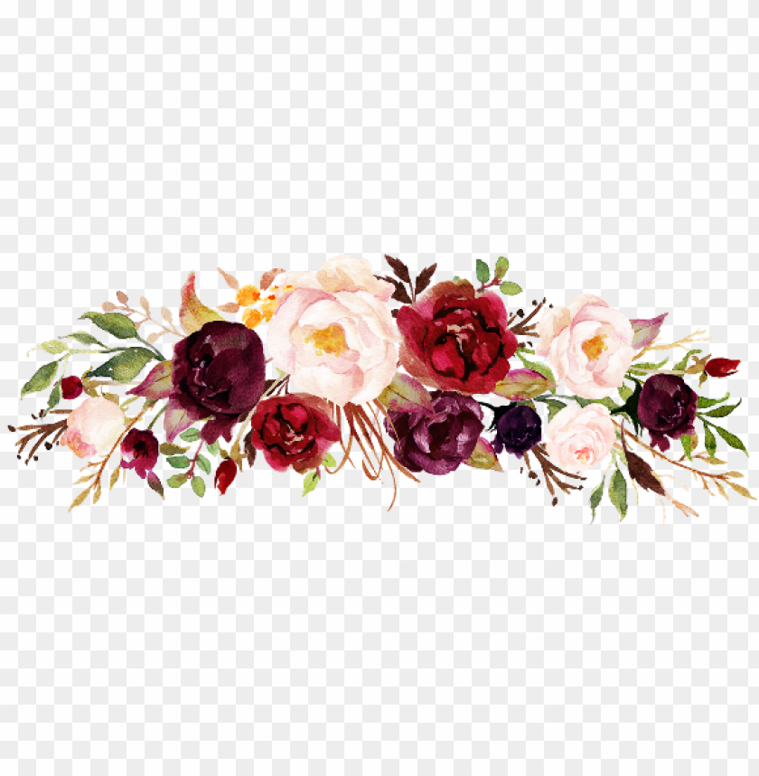 free PNG floral freetoedit - floral marsala PNG image with transparent background PNG images transparent
