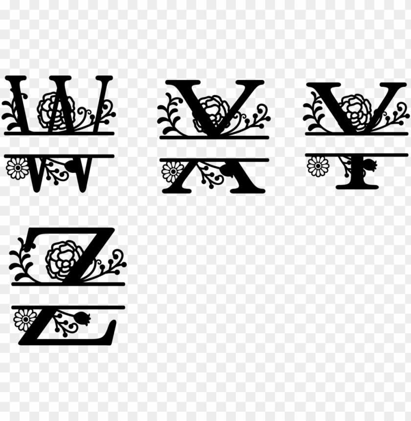 free PNG floral letter PNG image with transparent background PNG images transparent