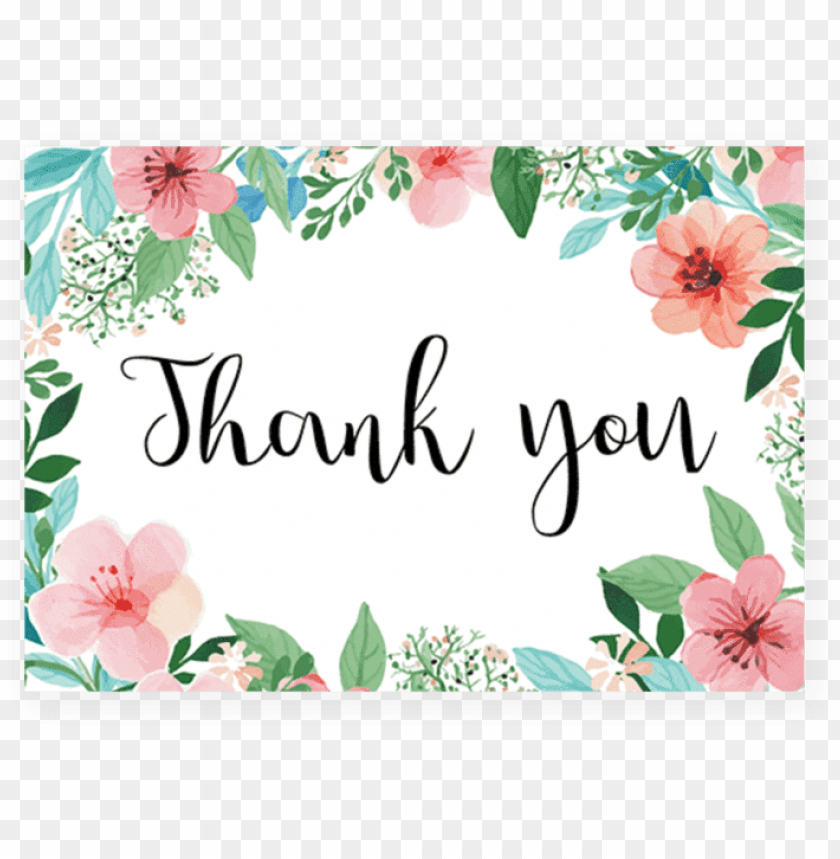 free PNG floral thank you cards printable by littlesizzle - printable floral thank you cards PNG image with transparent background PNG images transparent