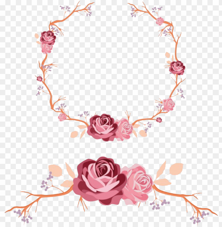 free PNG floral wreath wedding design vector free download - luke and lilly this is my lovely family wall sticker PNG image with transparent background PNG images transparent