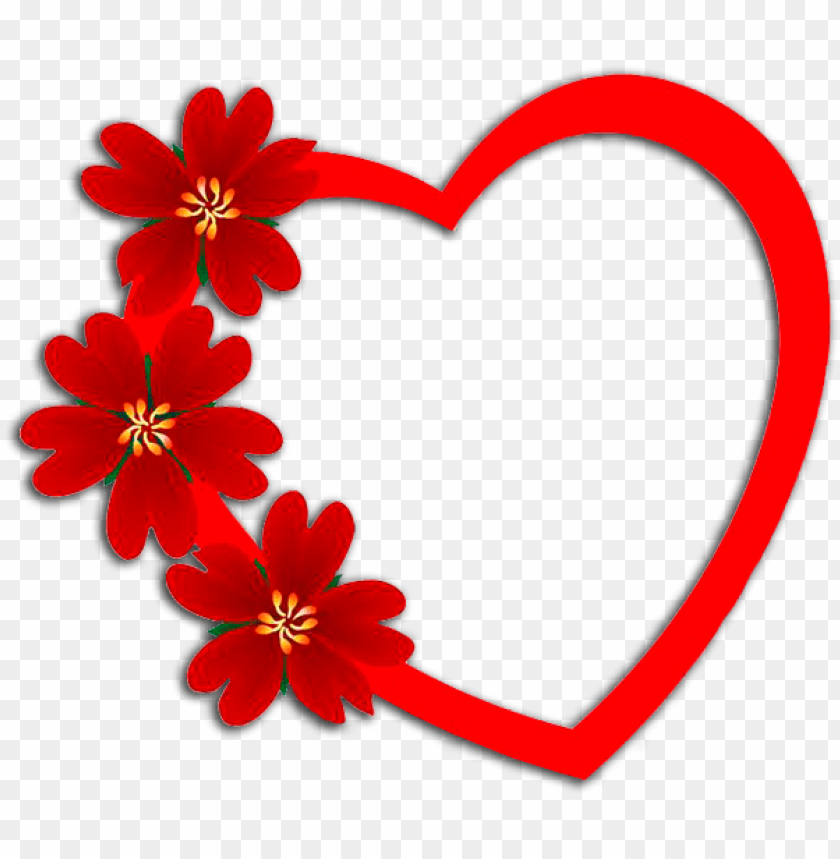 free PNG flores con corazón frame download, love frames, love - love photo frames desi PNG image with transparent background PNG images transparent