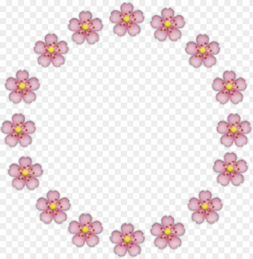 Flores Emoji Rosa Circulo Moldura Fofa Iphone Pink Flower