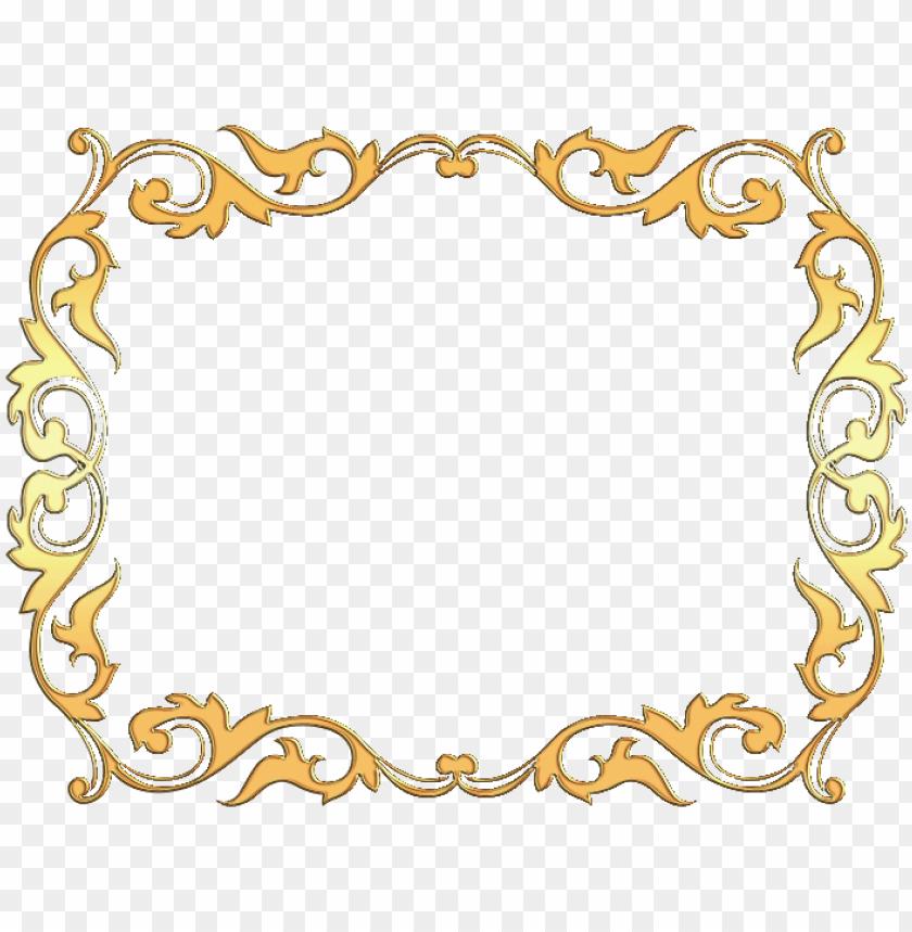 free PNG flores en color dorado marco marco dorado con flores - fondo religioso PNG image with transparent background PNG images transparent