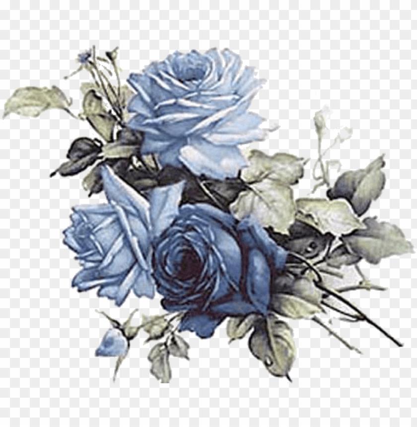 free PNG flores vintage azul png - vintage blue flowers PNG image with transparent background PNG images transparent