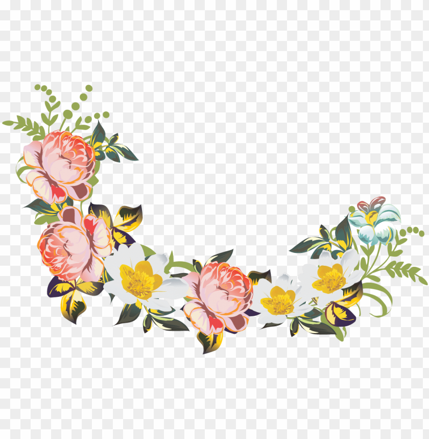 Flores Vintage Flowers Png Image With Transparent