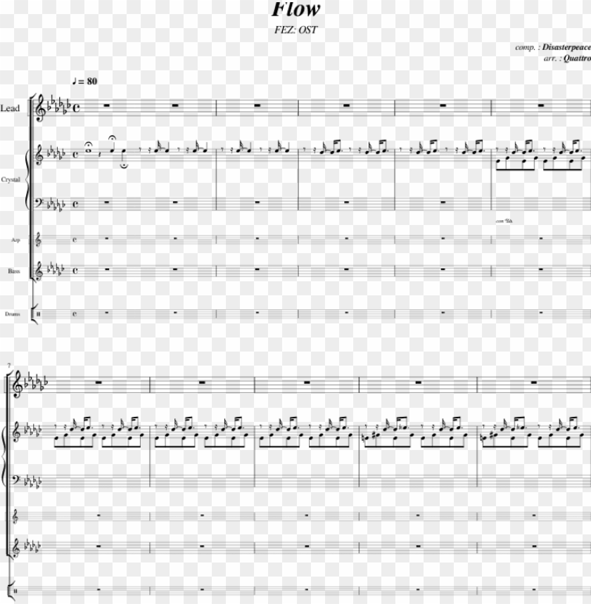 free PNG flow - fez ost - disasterpeace fez flow sheet music PNG image with transparent background PNG images transparent