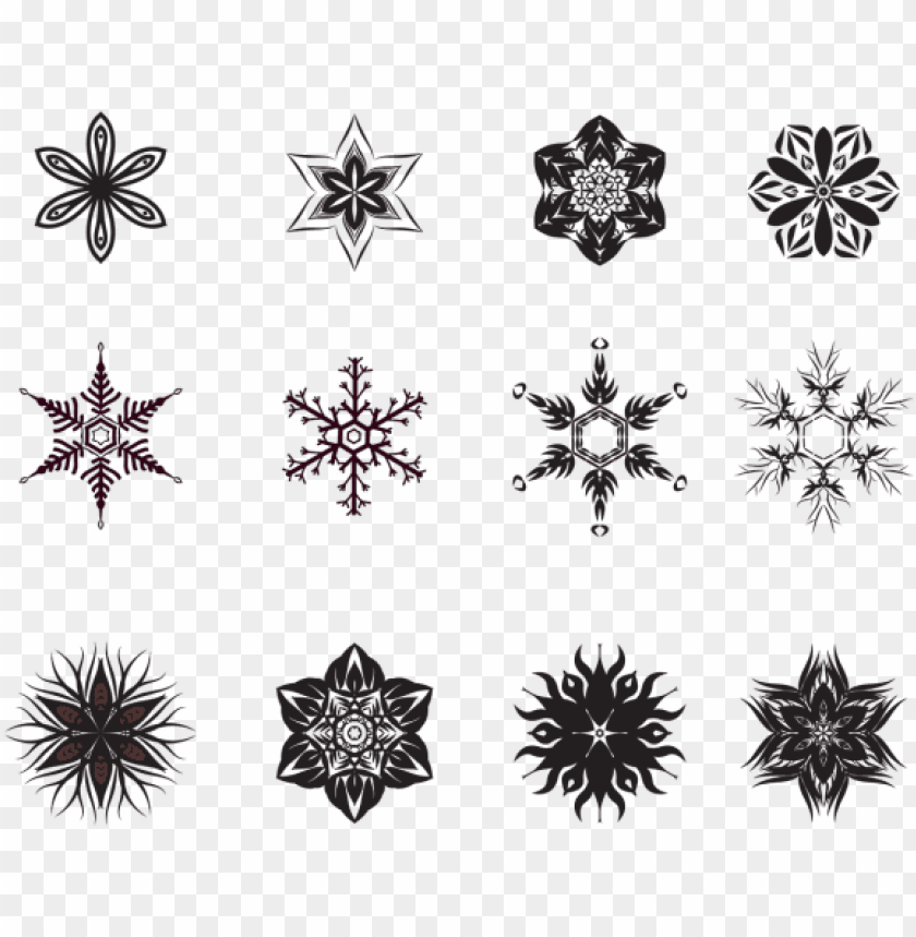 free PNG flower and snowflake pattern, wedding, pattern, border - snowflake PNG image with transparent background PNG images transparent