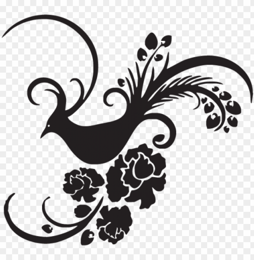 free PNG flower bird vector, flower vector, bird vector png - bird and flowers stencils PNG image with transparent background PNG images transparent
