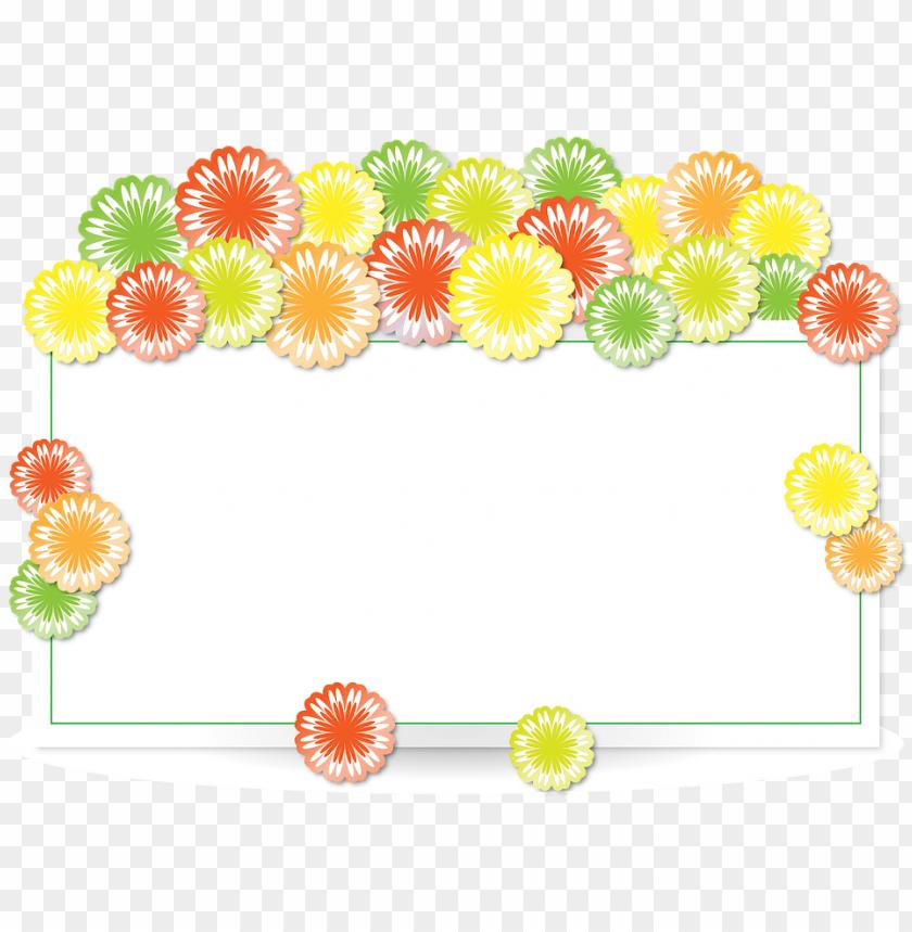 free PNG flower border design 10, buy clip art - border design flower rectangle PNG image with transparent background PNG images transparent