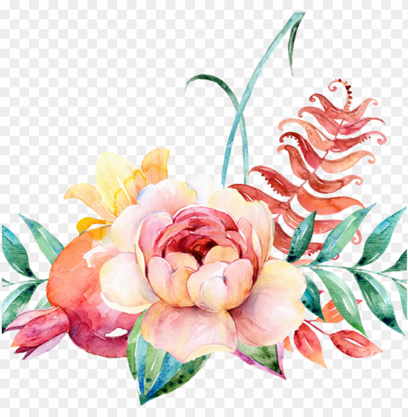 free PNG flower border png watercolour flower border png peoplepng - watercolor floral background PNG image with transparent background PNG images transparent
