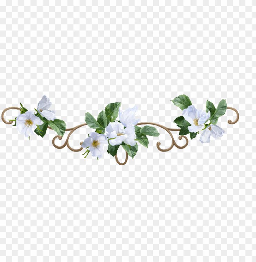 free PNG flower border png - white flower border PNG image with transparent background PNG images transparent
