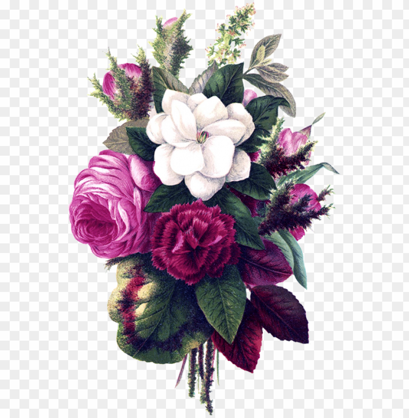 free PNG flower bouquet pink flowers - watercolor border flower background PNG image with transparent background PNG images transparent