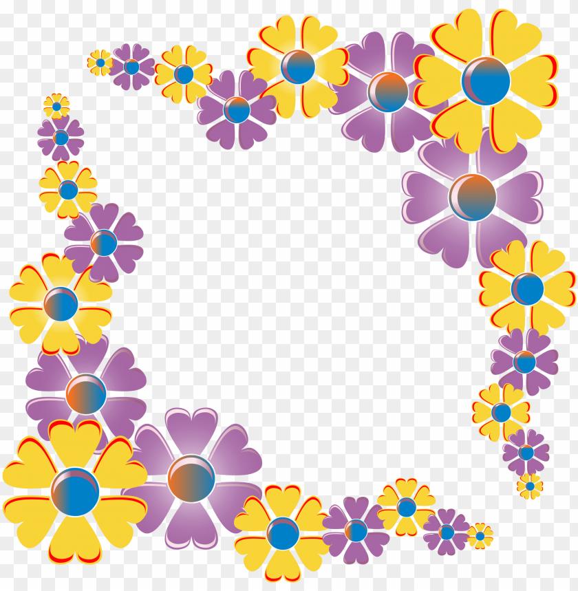 free PNG flower corner variation frame png freeuse library - big flower corner desi PNG image with transparent background PNG images transparent