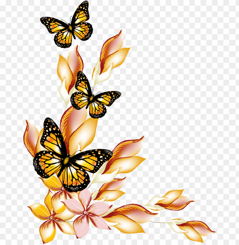 free PNG flower flowers and butterflies - butterflies and flowers clipart PNG image with transparent background PNG images transparent