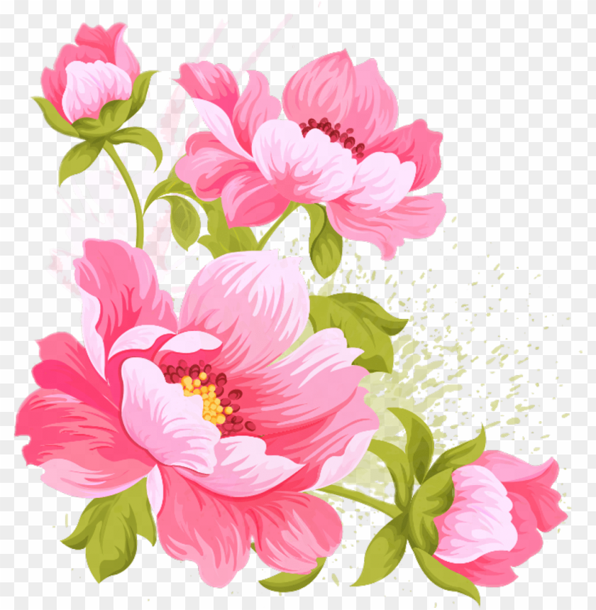 Flower Flowers Draw Drawing Paint Painting Pink Flower Wedding Vectors Png Image With Transparent Background Toppng