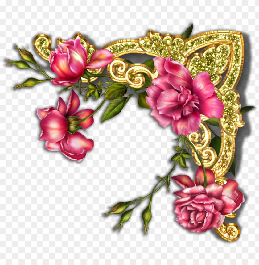 free PNG flower frame, belles images, rubrics, page 3, corner, - garden party invitation floral cluster card PNG image with transparent background PNG images transparent