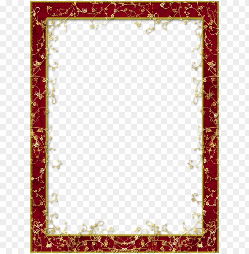 free PNG flower frame png, paper frames, wooden frames, red - red and gold borders PNG image with transparent background PNG images transparent