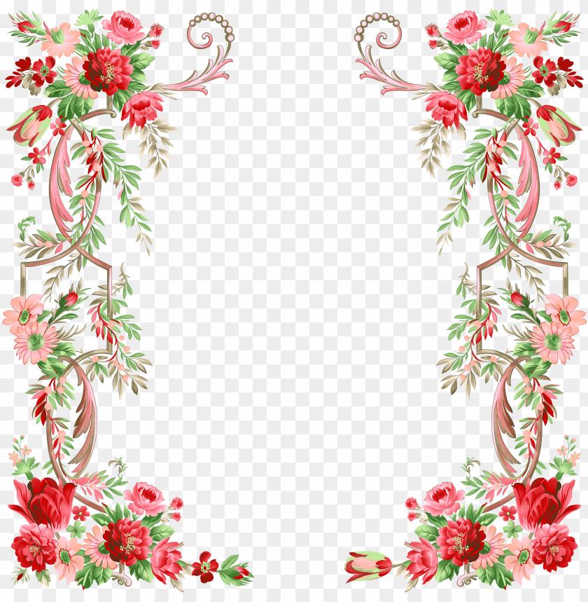 free PNG flower graphic design - transparent floral border design PNG image with transparent background PNG images transparent