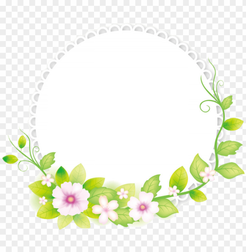 free PNG flower illustrator frame fresh adobe round - round flower frame PNG image with transparent background PNG images transparent