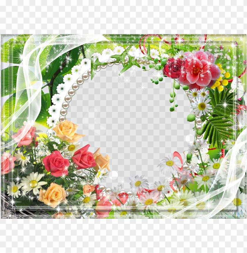 free PNG flower layout transparent frame clipart decorative - transparent floral flower border frame PNG image with transparent background PNG images transparent