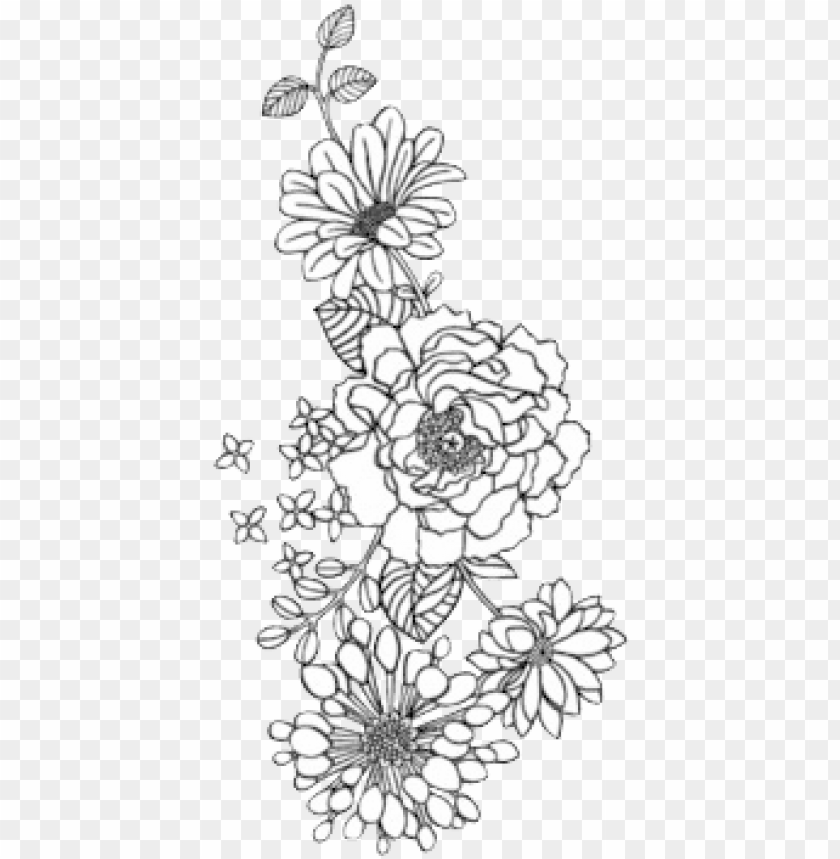 Flower Png Tumblr Black And White Flowers Png Image With Transparent Background Toppng