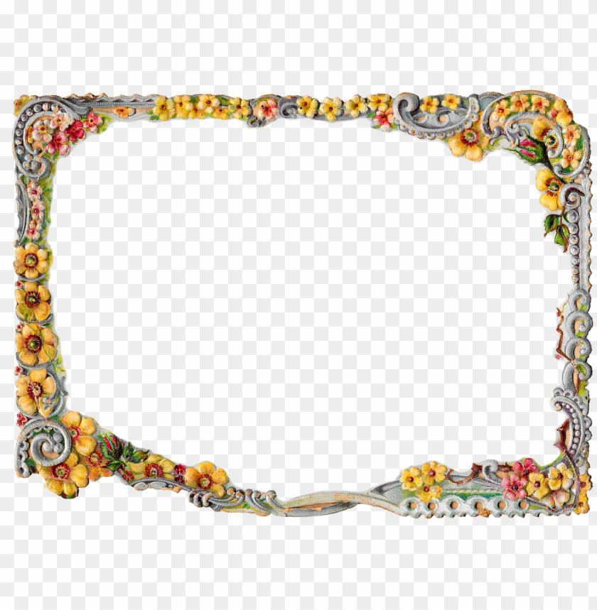 free PNG flower swirl border frame design image scrapbooking - frame border design PNG image with transparent background PNG images transparent