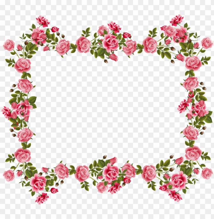 free PNG flowers borders clipart april - flowers frame clipart PNG image with transparent background PNG images transparent