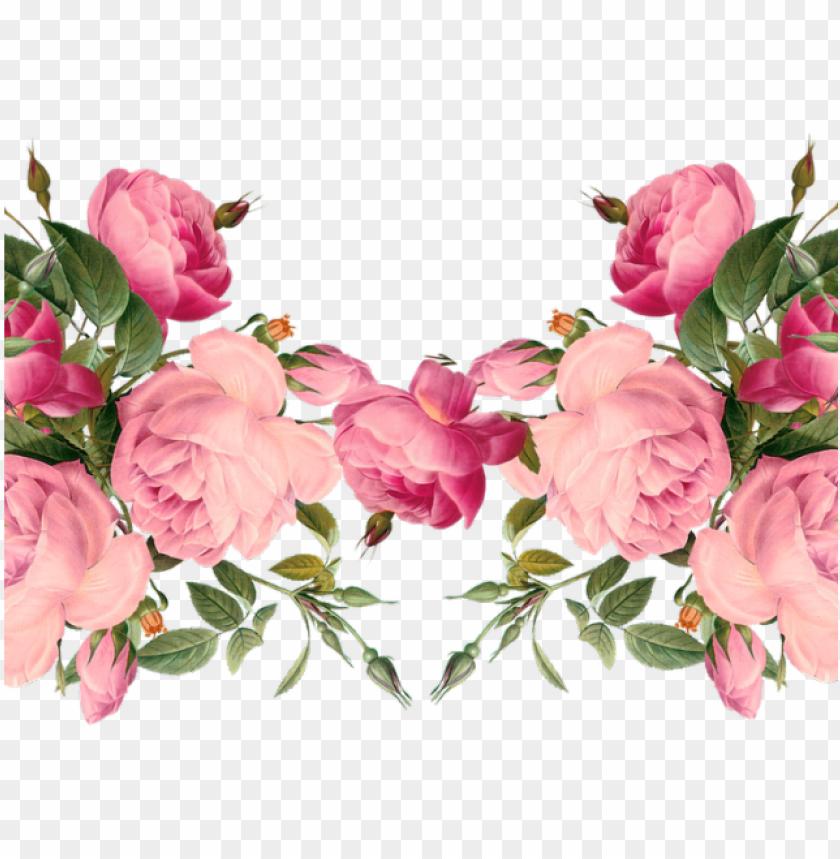 free PNG flowers borders clipart april - transparent pink floral border PNG image with transparent background PNG images transparent