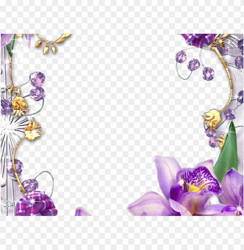 free PNG flowers borders clipart violet flower - pink and purple flowers and butterfly borders PNG image with transparent background PNG images transparent
