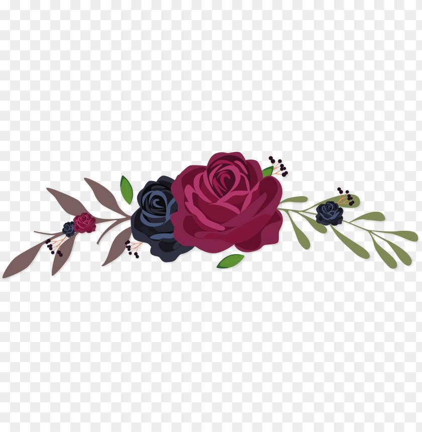 Flowers Vectors Clipart Png Image Coroa De Flores Vetor