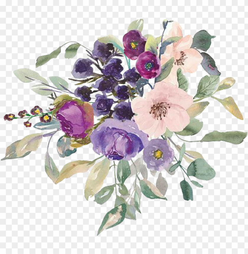 free PNG flowers watercolor flowers flowerlover flores springflo - purple watercolor flowers PNG image with transparent background PNG images transparent