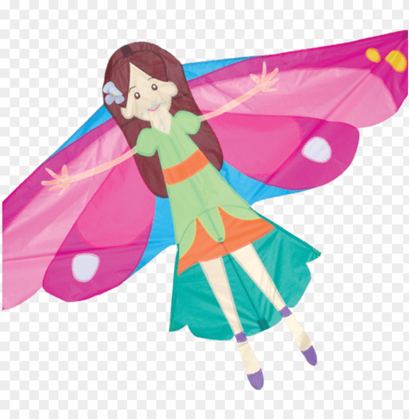 free PNG flying fairy kite - nylon fairy kite PNG image with transparent background PNG images transparent