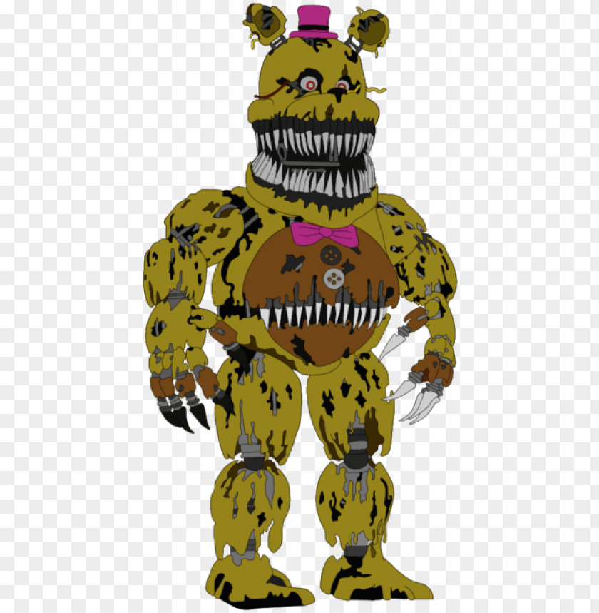 Fnaf 4 Fredbear Drawing Png Image With Transparent Background Toppng