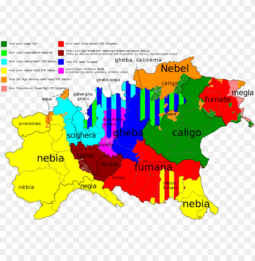 free PNG fog in various northern italy regional languages [oc][2400x1697] - northern italy fo PNG image with transparent background PNG images transparent