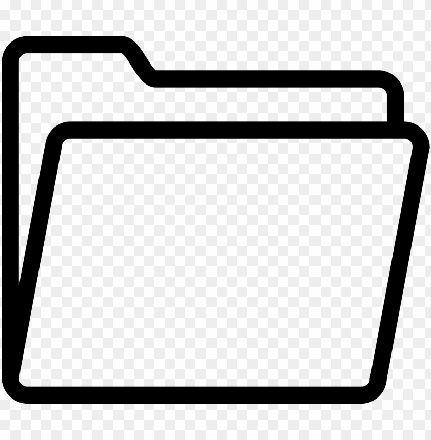 Folder Icon Png Transparent Black And White Folder Ico Png Image With Transparent Background Toppng