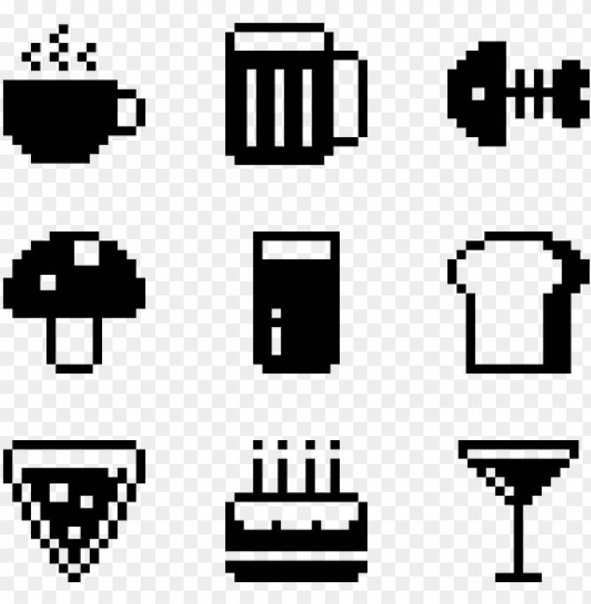 free PNG food 50 icons - food icon pixel PNG image with transparent background PNG images transparent