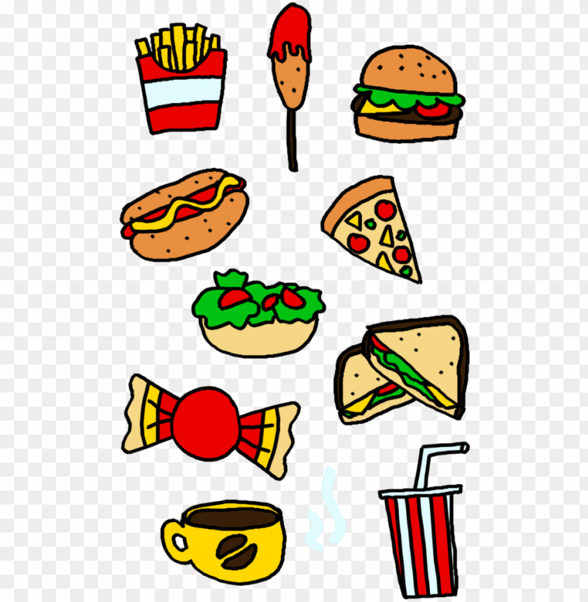 free PNG food groups clipart at getdrawings - junk food vs healthy food cartoo PNG image with transparent background PNG images transparent