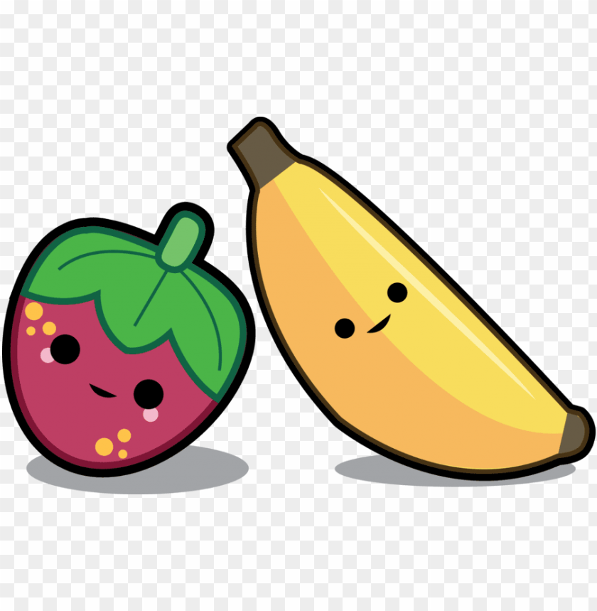 free PNG food png, bananas, strawberry, animal babies, banana, - cute strawberry and banana PNG image with transparent background PNG images transparent