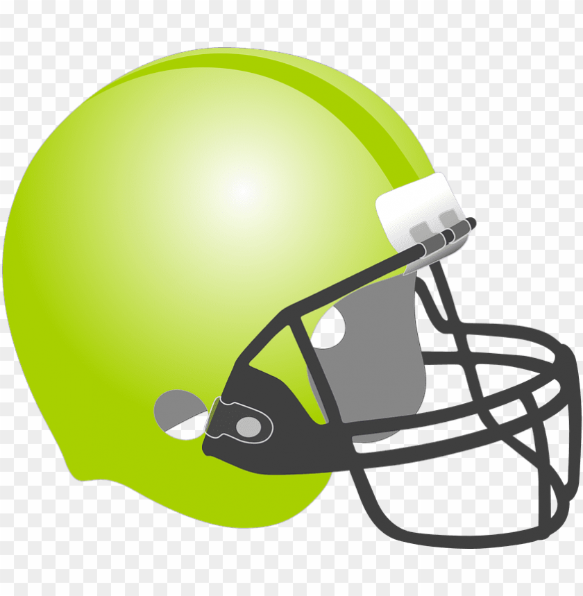free PNG football, baseball, helmet, protection, sport, green - green football helmet clipart PNG image with transparent background PNG images transparent