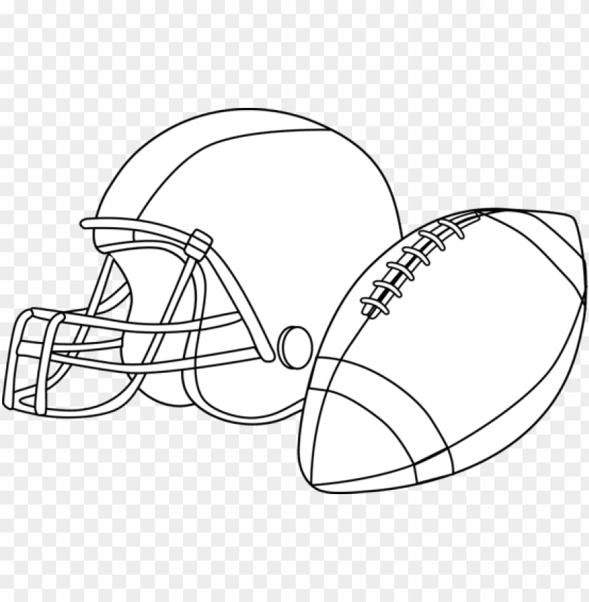 free PNG football black and white football clipart black and - football and helmet clipart PNG image with transparent background PNG images transparent