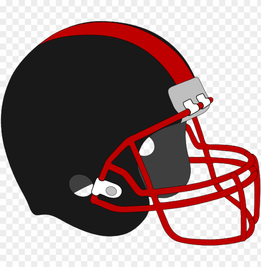free PNG football helmet red and black clip art at clker - red and black football helmet PNG image with transparent background PNG images transparent