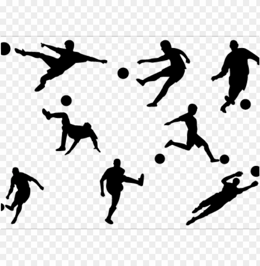 free PNG footballer clipart silhouette - football players clipart PNG image with transparent background PNG images transparent