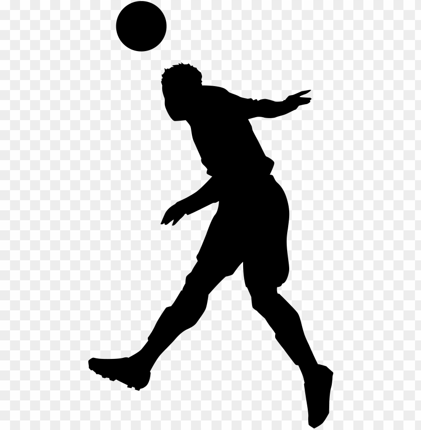 free PNG footballer silhouette png clip art - playing football silhouette PNG image with transparent background PNG images transparent