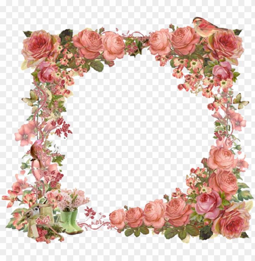 free PNG for developers vintage flowers borders clipart - frame vintage floral border PNG image with transparent background PNG images transparent