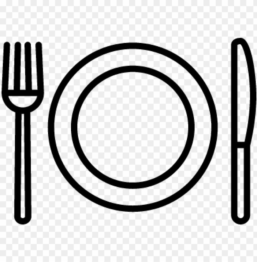 free PNG fork plate knife vector - plate knife and fork outline PNG image with transparent background PNG images transparent